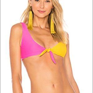 Tularosa pink and yellow bikini top and bottom